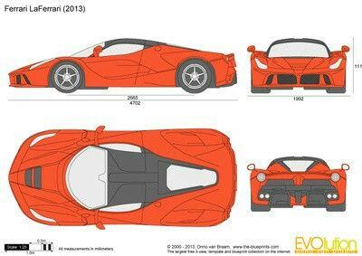 Blueprints Ferrari LaFerrari