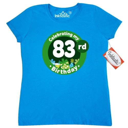 Inktastic 83rd Birthday Party Celebration Womens T Shirt 83 Year Old Turning Adult Celebrating Gift Years Clothing Apparel Tees Hws Size Large Blue