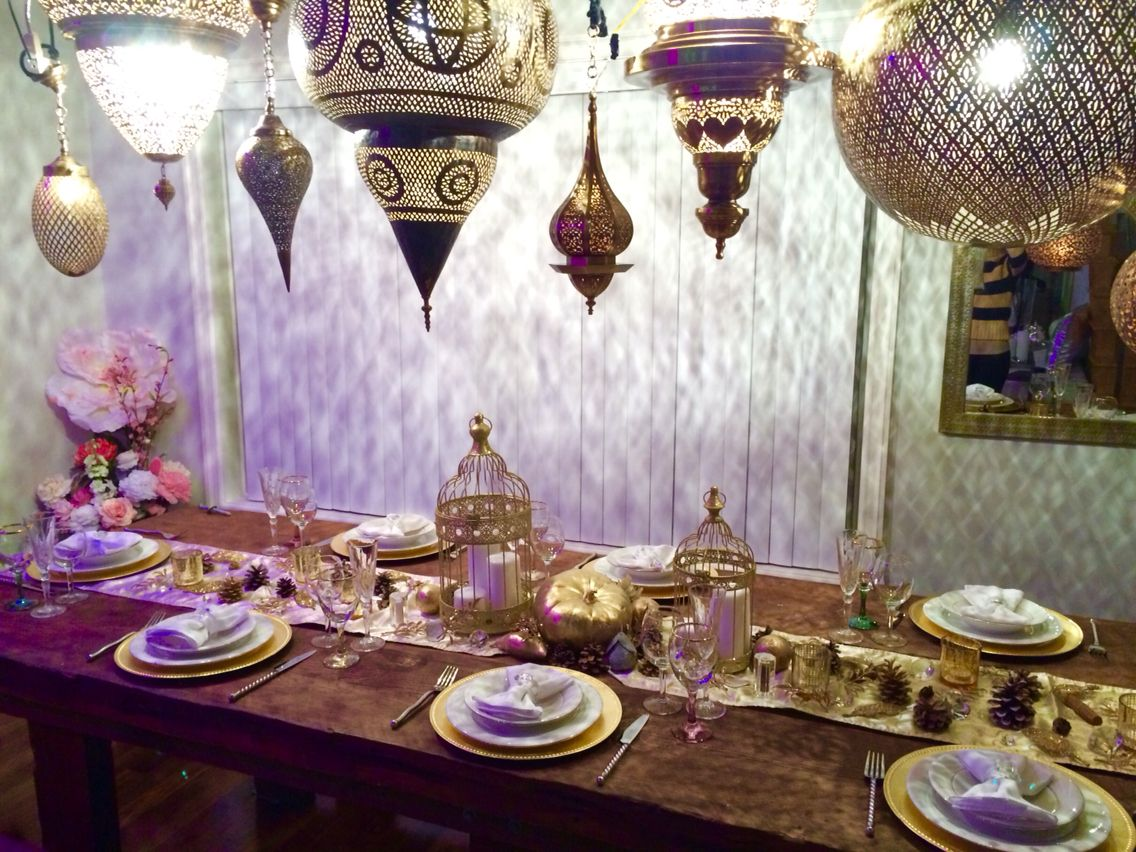 Sneak peek for last night's Thanksgiving dinner party! Created by yours truly @teasingyourtastebuds @moroccan.prestige  #thanksgiving #teasingyourtastebuds #Moroccan #prestige #luxury #party #dinner #set #design #magazine #gold #champagne #silverware #holidays #thankful