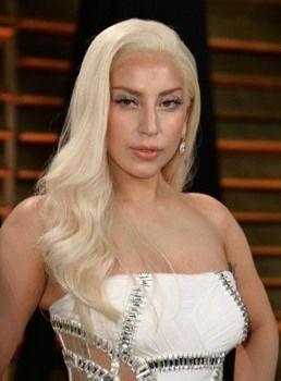 Lady Gaga Blonde Wavy Synthetic Hair Lace Front Wig 22 Inches Blonde Hair Lady Front Lace Wigs Human Hair Lady Gaga