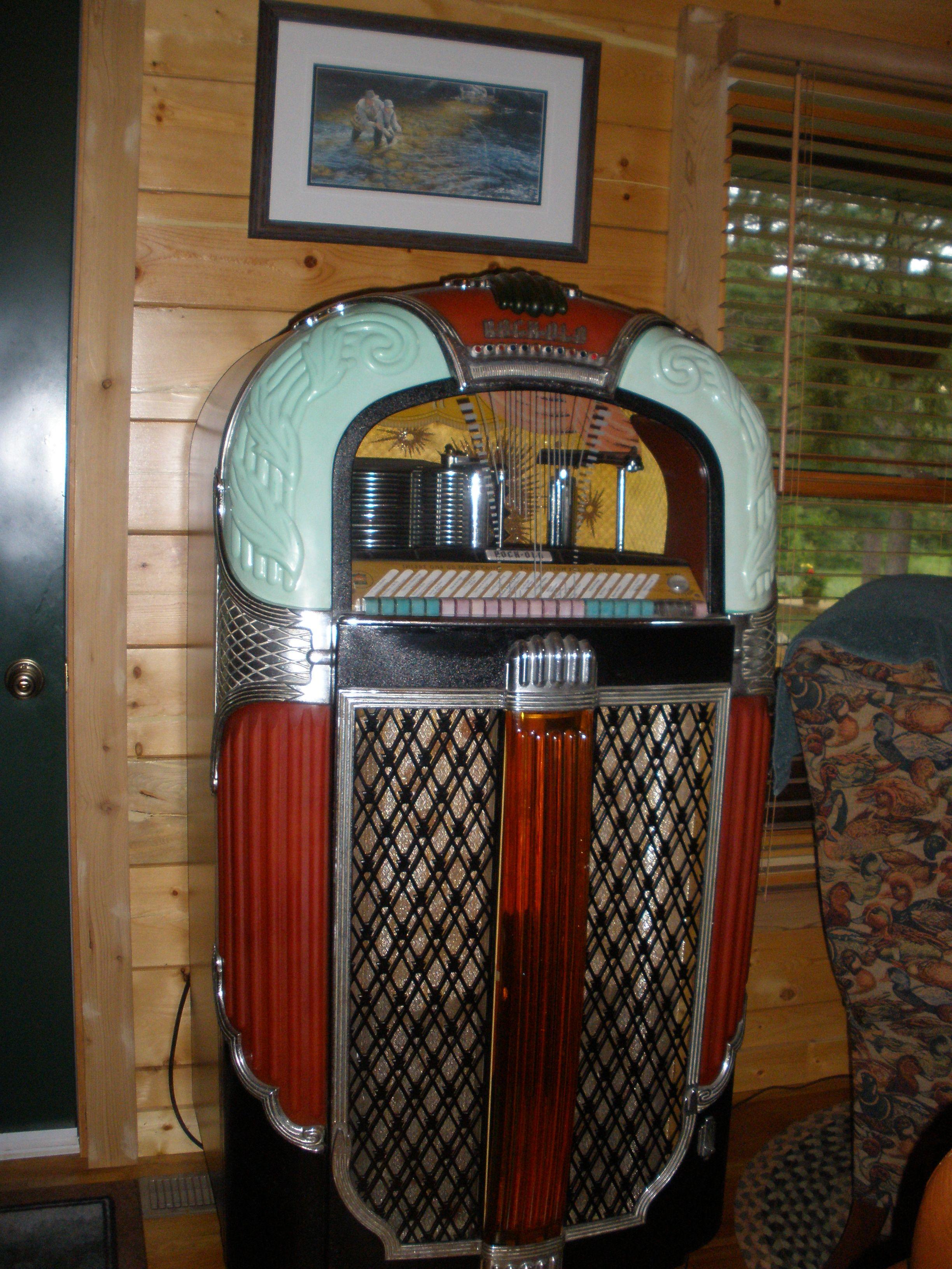 My Rockola jukebox, 1947   Jukebox, New living room, Home