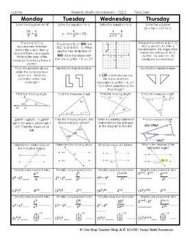 Homework help 8th grade math