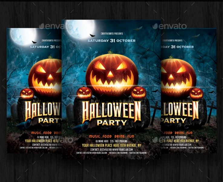 Halloween Celebration Party Flyer Template Halloween Party Flyer
