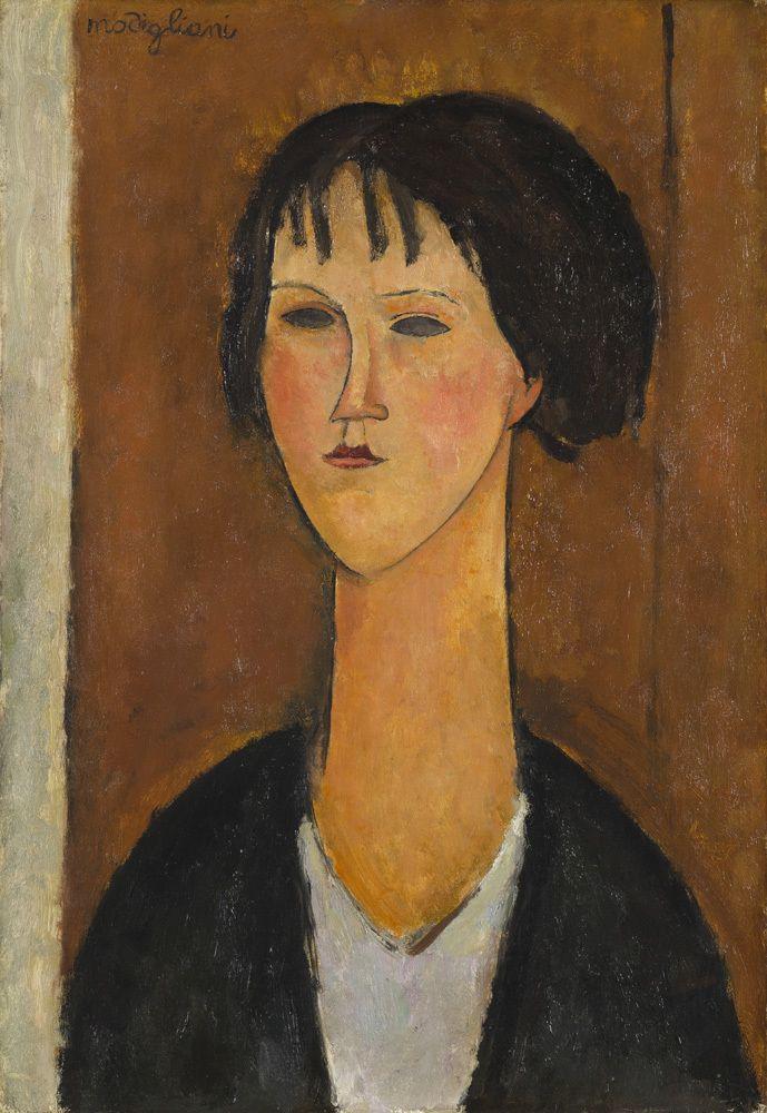 ❣️Galerie de La Béraudière (Stand S16) / Amadeo Modigliani - Jeune fille à  la frange -1917 (avec images) | Amédéo modigliani, Modigliani, Figuratif