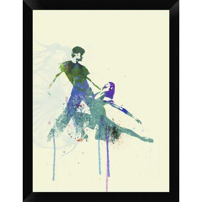 "Naxart 'Tango Couple' Framed Graphic Art Print on Canvas Size: 26"" H x 20"" W x 1.5"" D"