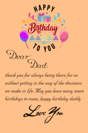 HAPPY BIRTHDAY LETTER FOR FATHER FROM SON WITH SURPRISE GIFT FULLY CUSTOMIZED PRODUCTS FREE CUSTOMIZATION LAYOUTS HUGE RANGE OF CHANGE COLOUR