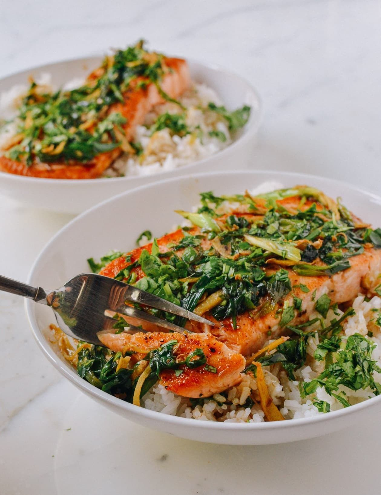 Seared Salmon with Soy, Scallions, and Ginger #searedsalmonrecipes Seared Salmon with Soy, Scallions, and Ginger | Kitchn #searedsalmonrecipes