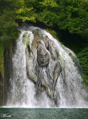 Most Interesting Natural Illusion Pictures Nature Waterfall Beautiful Places