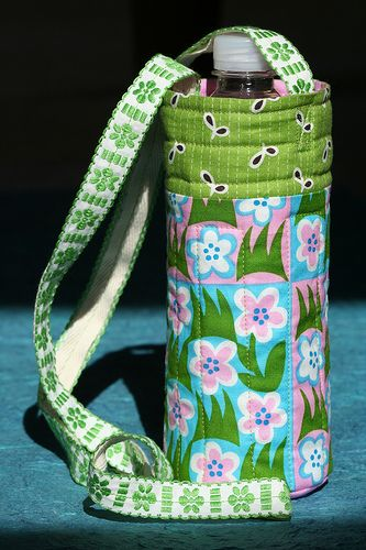quilted water bottle carrier
