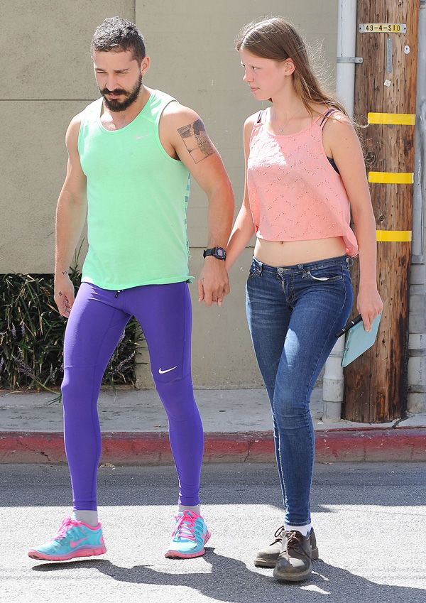 Shia LaBeouf and girlfriend Mia Goth out in Studio City