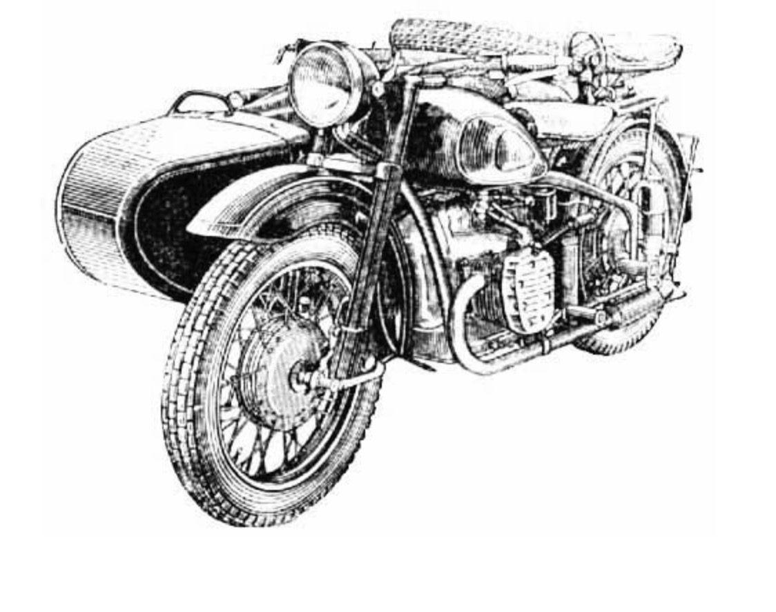 Kmz Kiev Motorcycles Heavy Bike Series Old Style With Sidecars