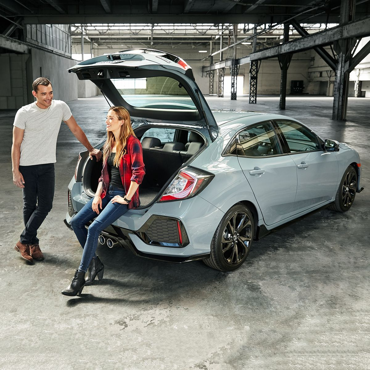 This Is Where Style Meets Utility. The Civic Hatchback