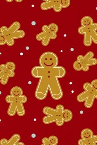 Gingerbread Men Wallpaper