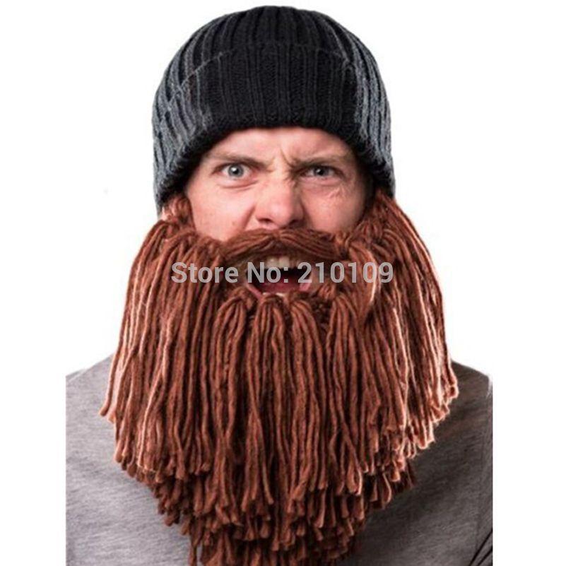 длинные вязаные зима теплая ручной усы борода шапочки шапки Gorros