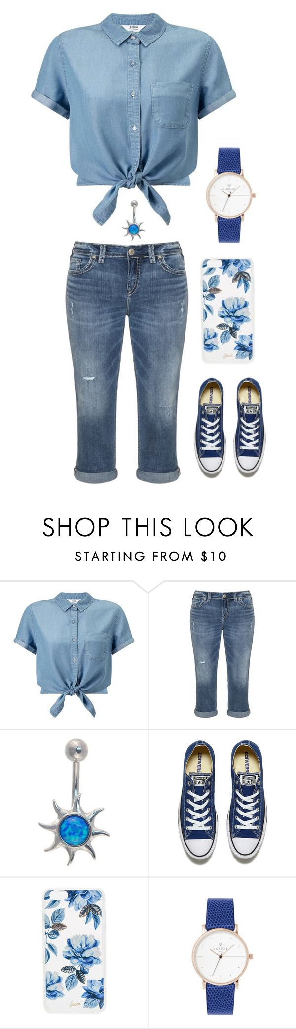 """happy summer!!!"" by niallhoranslover ❤ liked on Polyvore featuring Miss Selfridge, Silver Jeans Co., Converse and Sonix"