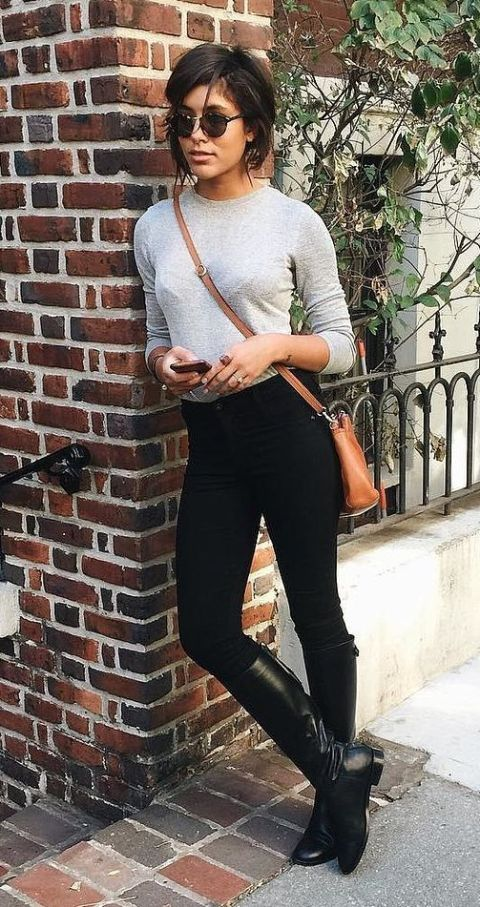 Riding boot outfits, Black boots outfit