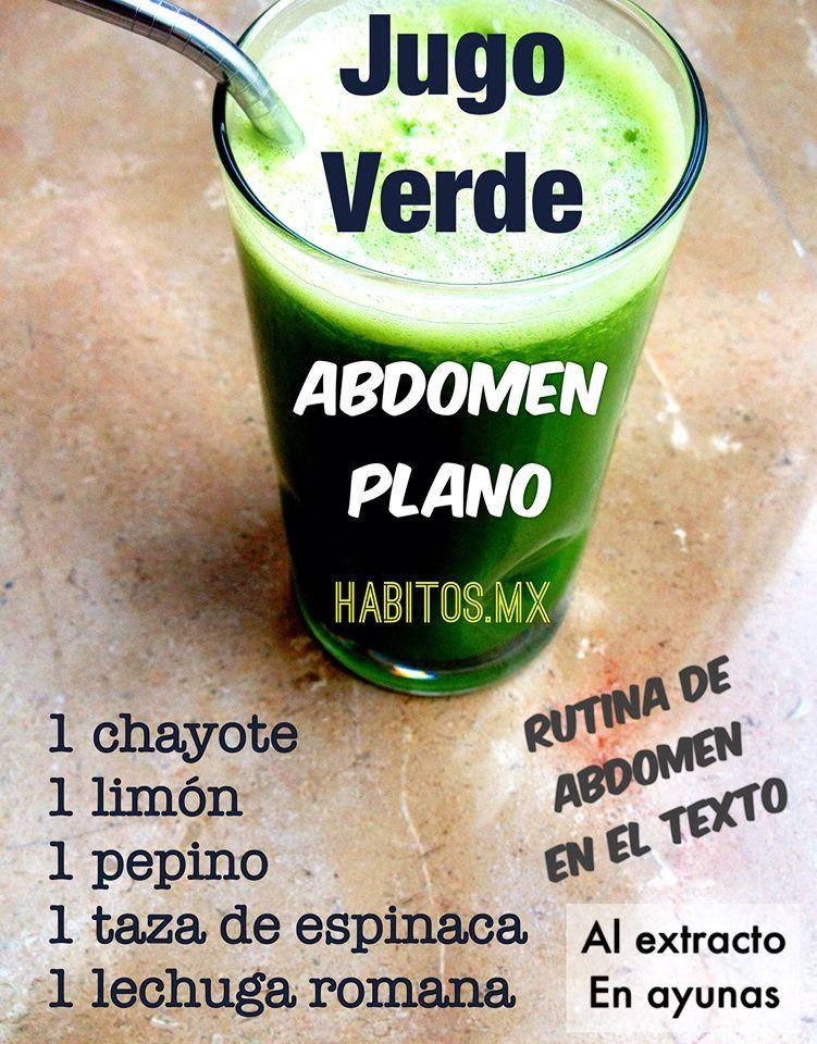 Jugo verde abdomen plano jugos bebidas y licuados - Infusiones vientre plano ...