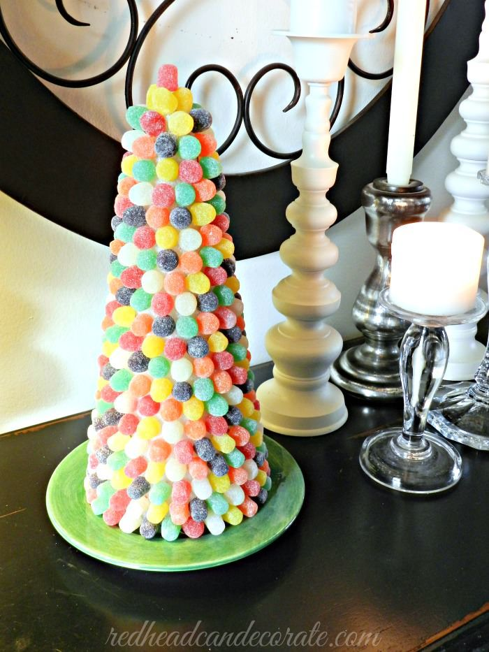 DIY Gumdrop Tree - Redhead Can DecorateRedhead Can Decorate