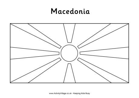 North Macedonia Flag Colouring Page Flag Coloring Pages