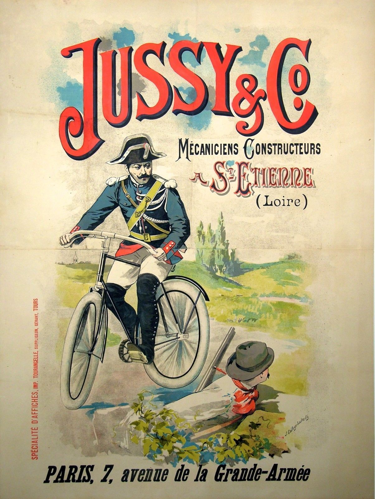 VINTAGE CYCLES MEGRET FRENCH ADVERTISING A4 POSTER PRINT