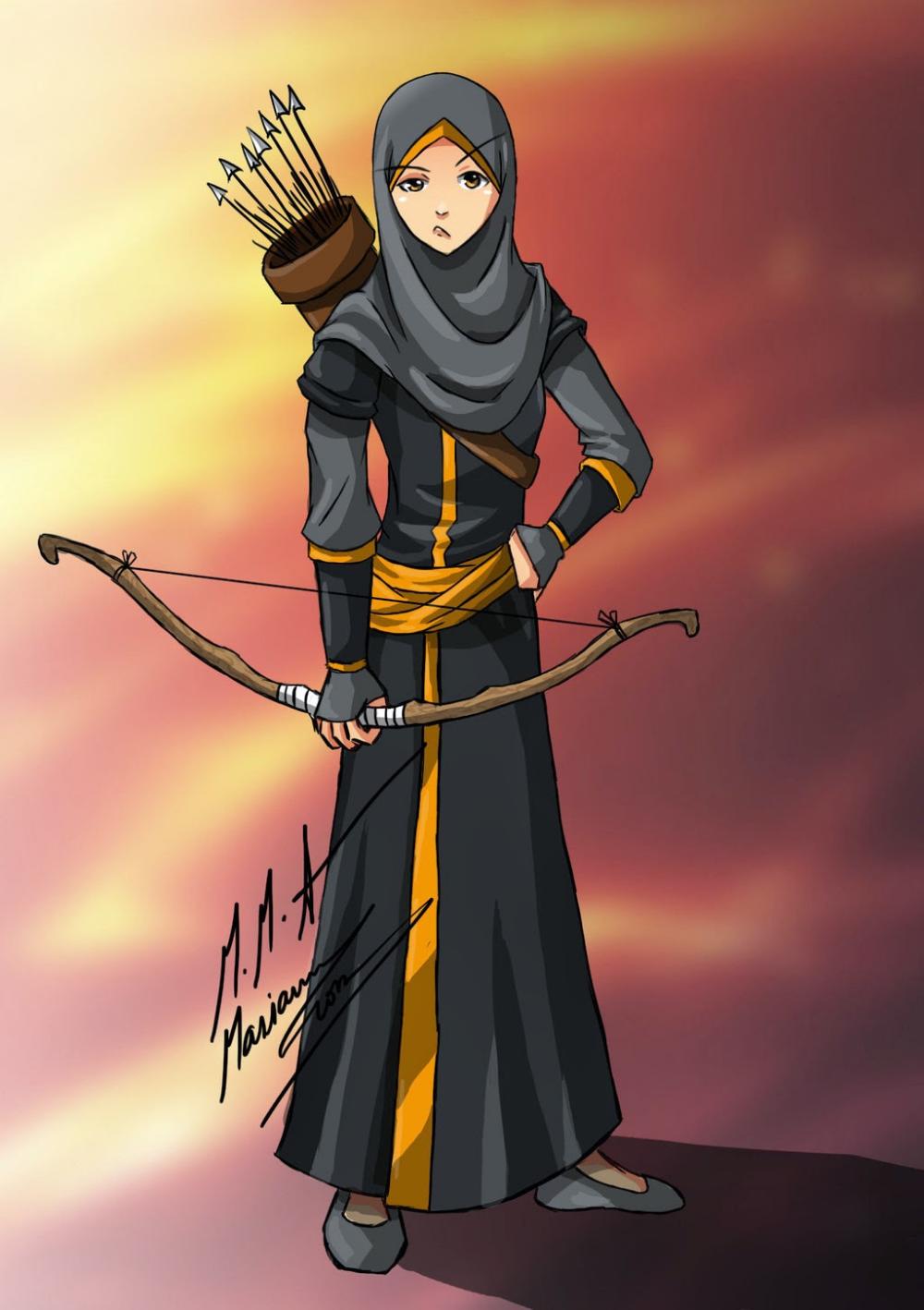 Koleksi Gambar Kartun Ana Muslim Dan Muslimah Infokini Anime Muslimah Anime Muslim Hijab Cartoon