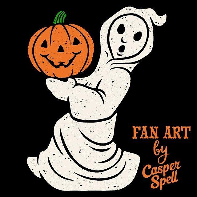 Casper Spell Halloween TattooHalloween GhostsRetro