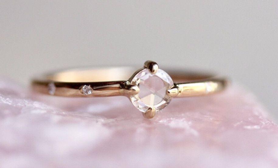 Sun Rose Cut Diamond Ring