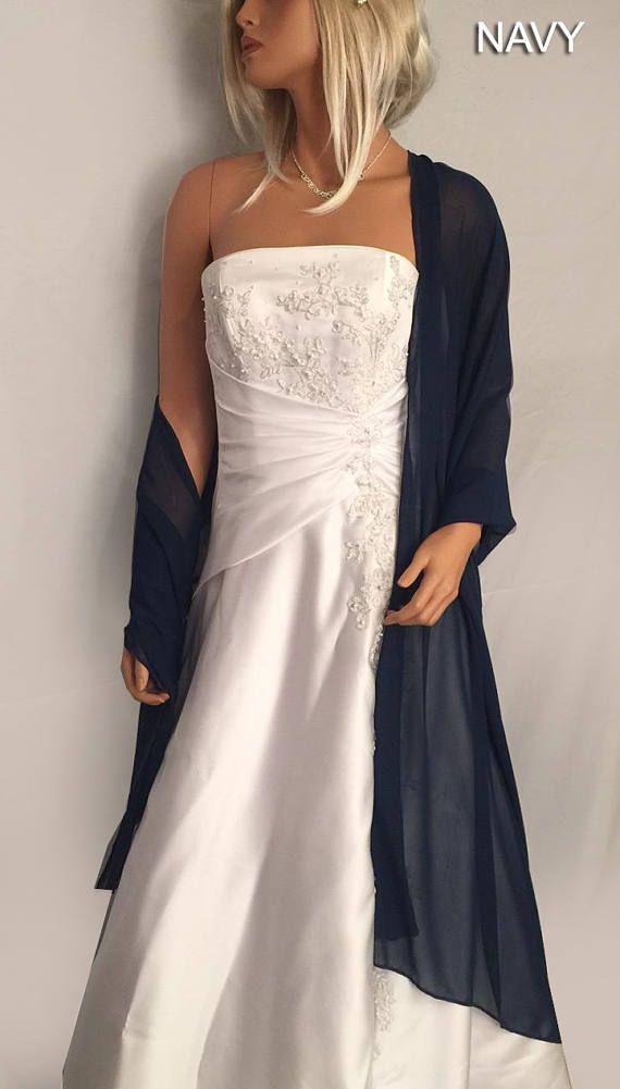 Chiffon Bridal Wrap Wedding Shawl Scarf Sheer Prom Bridesmaid