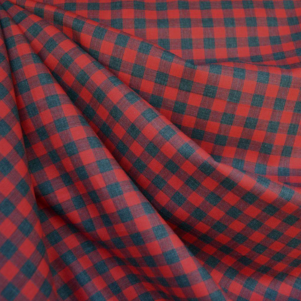 94adf389c11773 Japanese Herringbone Gingham Shirting Red Grey - Fabric - Style Maker  Fabrics