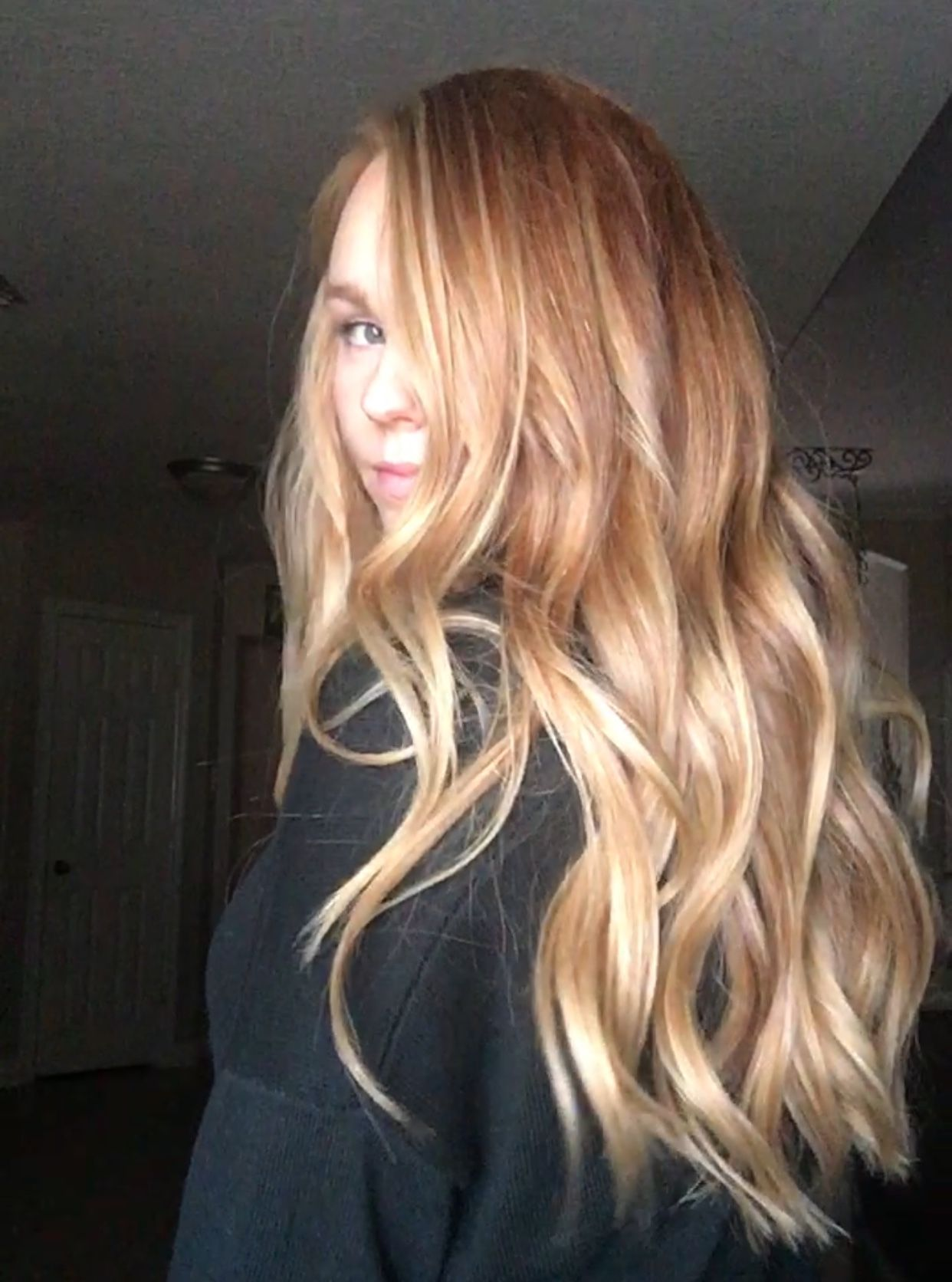 Natural Red w/ Blonde Balyage   Red blonde hair, Red hair with ...