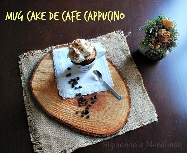 Siguiendo a Nenalinda: Mug cake de café cappucino: 1 Cda de café soluble 1 Cda de cacao 3 Cdas de leche 3 Cdas de harina  1/4 cdta de polvo de hornear 1 Cda de aceite vegetal 1 Huevo
