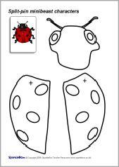 SB2495 Split-Pin Minibeast Characters