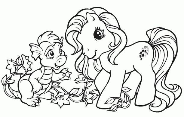 Mewarnai Gambar Kuda Poni Pony Sketches Little Pony
