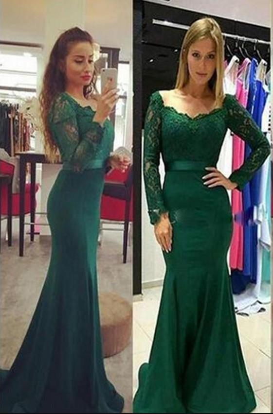 Graceful Forest Green Lace Evening Dresses , Elegant | ║ prom ...