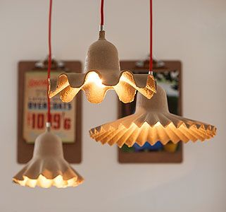 Recycled cardboard lights. Creative & beautiful.