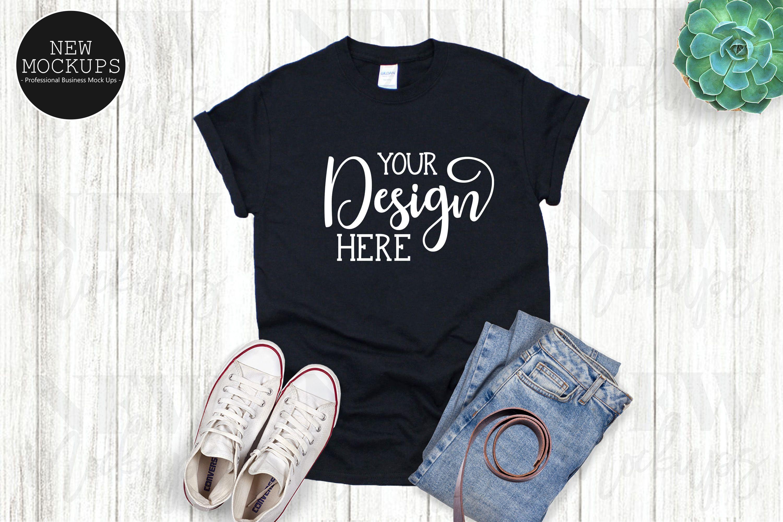 Download Gildan 500 Black Unisex T Shirt Mockup 963439 Clothing Design Bundles Shirt Mockup Clothing Mockup Tshirt Mockup