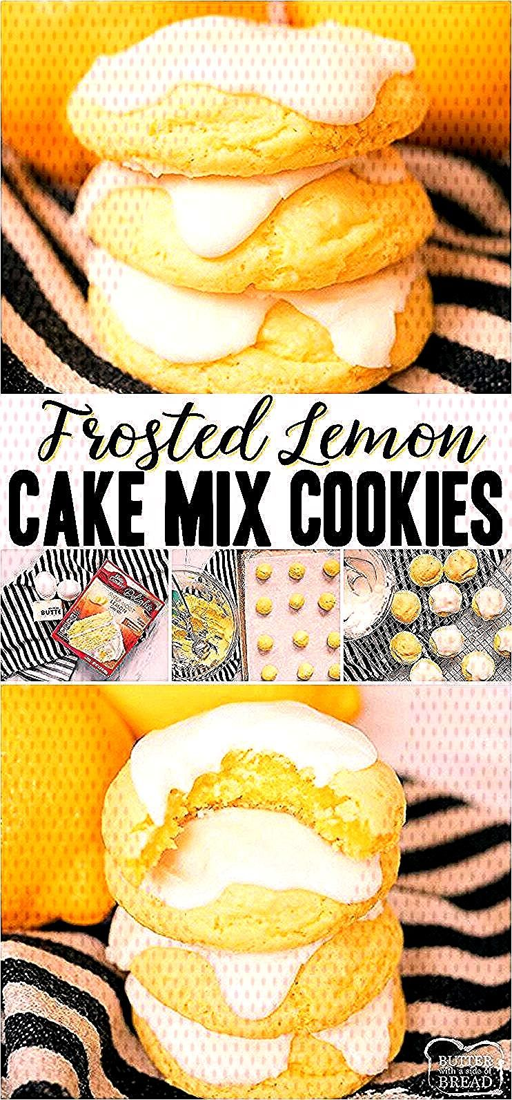 Lemon Cake Mix Cookies are soft amp delicious lemon cookies made using a Lemon Cake Mix, butter and e
