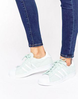 adidas Originals - Superstar - Scarpe da ginnastica scamosciate color menta
