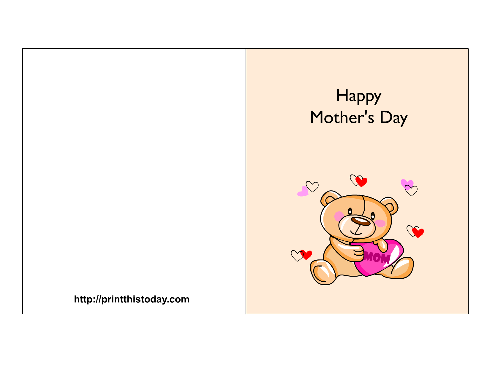 Free Mother S Day Cards Print This Today Mothers Day Cards Mothers Day Card Template Free Mothers Day Cards