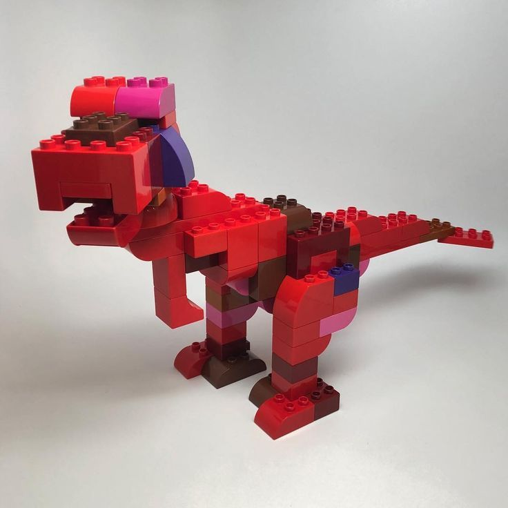 Here you can see a dinosaur / T-Rex made of LEGO® Duplo, which was brought to us by BRICKaddi ... - -