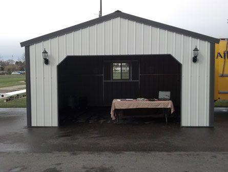 Summit Metal Garage Building Kit by VersaTube | Workshop | Metal garage buildings, Metal garages ...