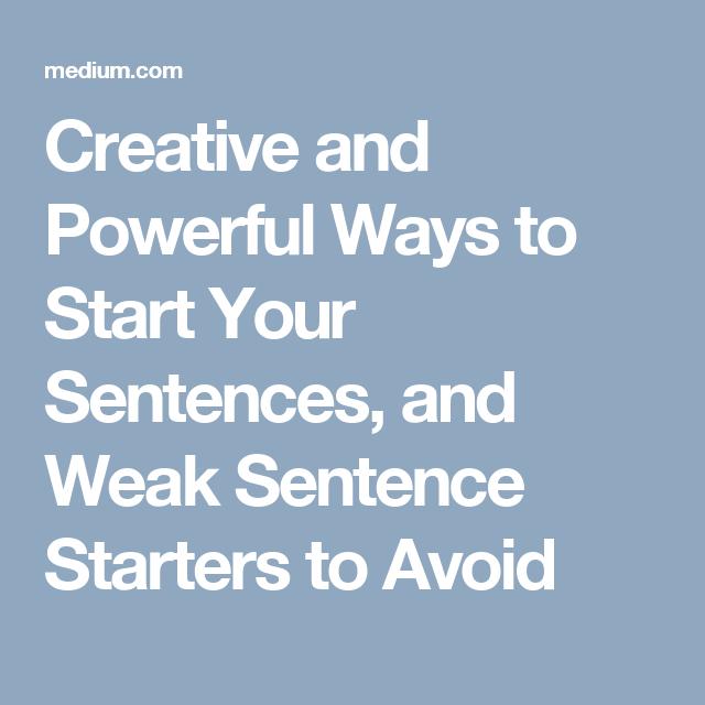 powerful opening sentences