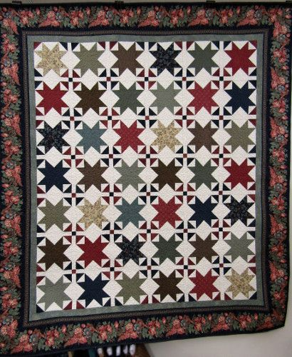 Gruber's Quilt Shop's Stars over Franklin Quilt kit features ... : three sisters quilt shop - Adamdwight.com