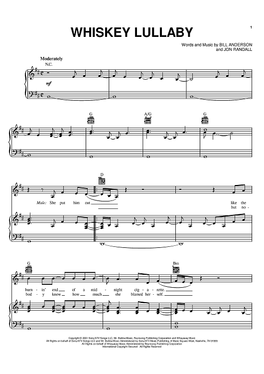 Whiskey Lullaby Sheet Music By Alison Krauss Sheet Music Pianos