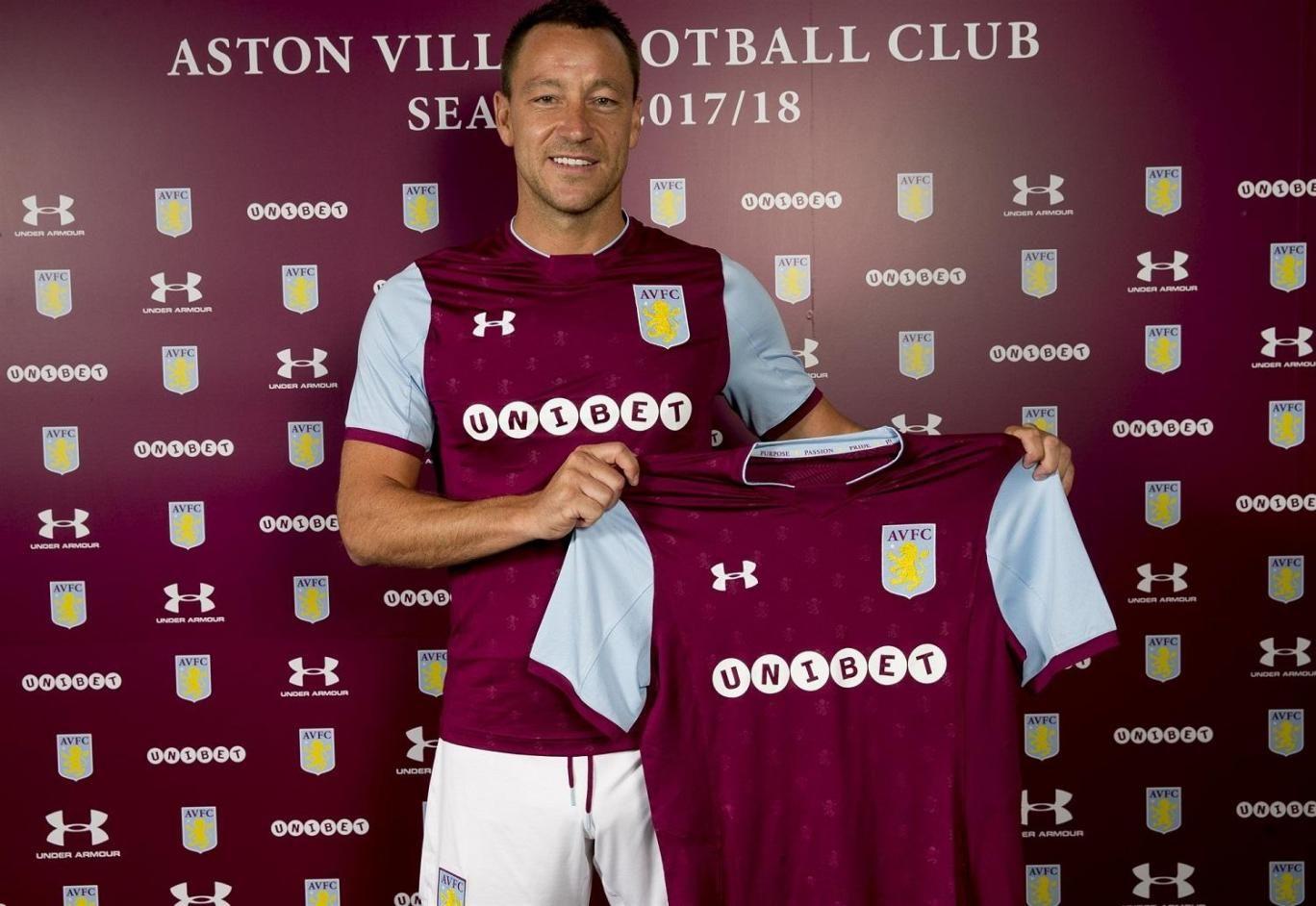 John Terry signs for Aston Villa Read the full transcript