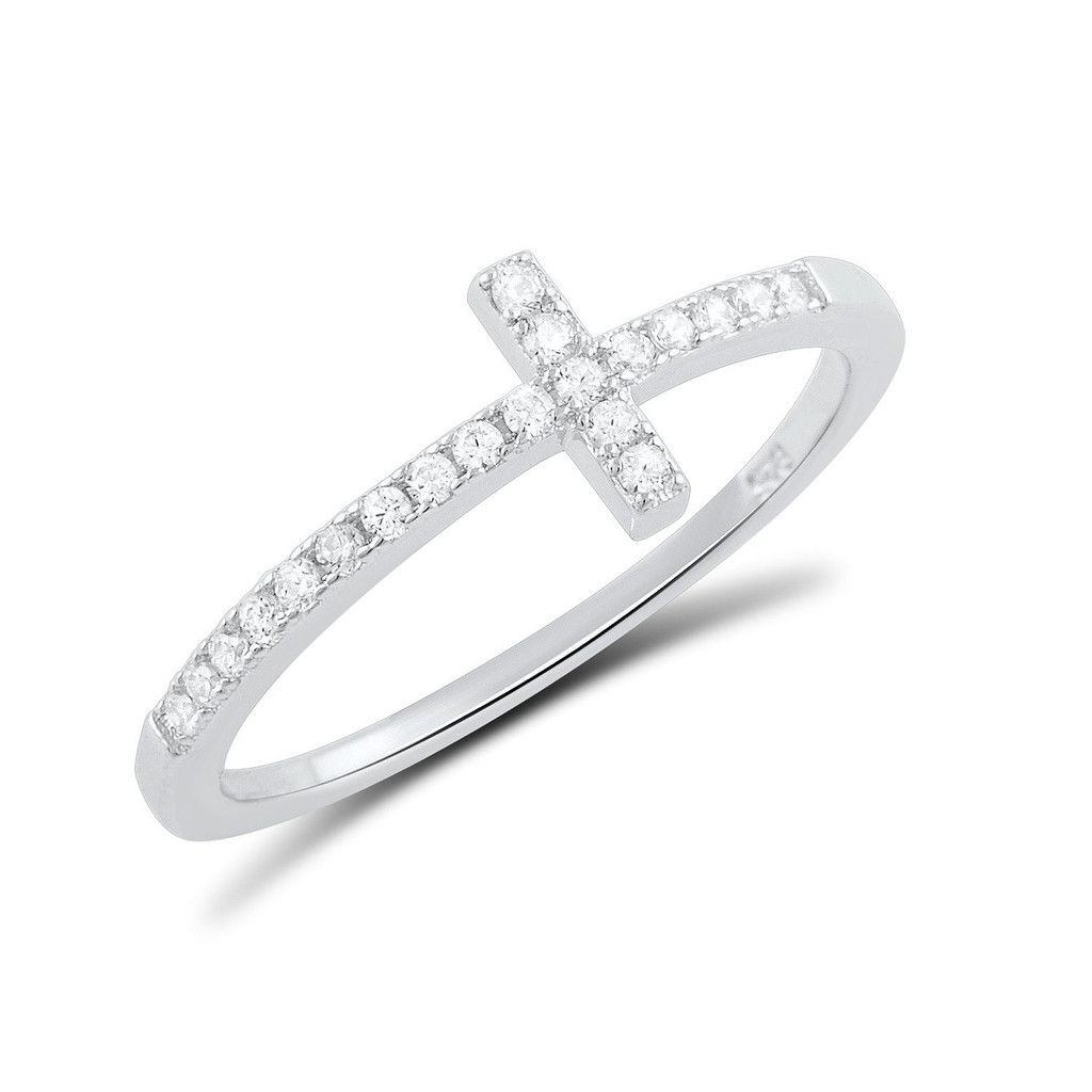 7mm Sterling Silver Independence Cross Ring