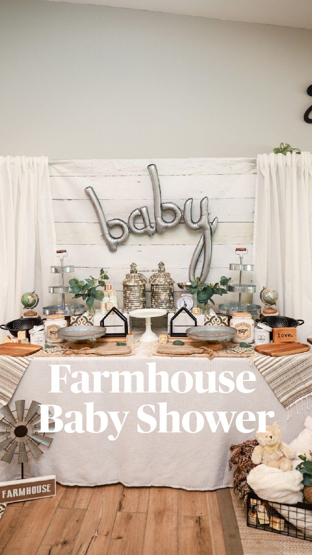 Farmhouse  Baby Shower