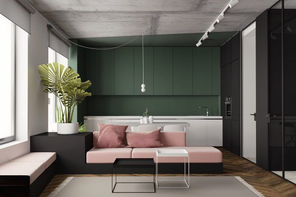studio apartments with inspiring modern decor themes also home rh pinterest