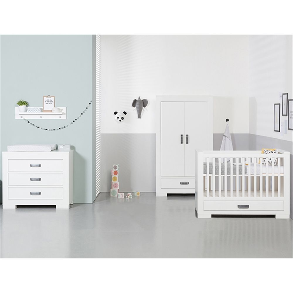 Cot Roomset White Nursery Furniture