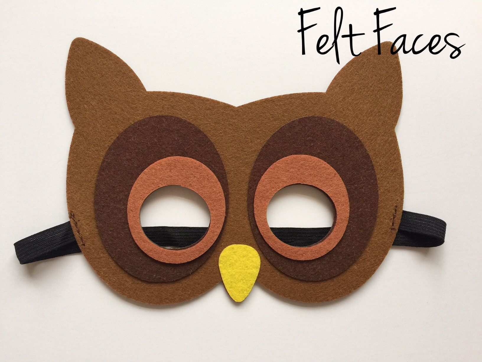 One Size Fits Adults /& Children Bird of Prey Mask with Elastic for Perfect Fit